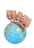 De vingers reizen de Wereld Royalty-vrije Stock Foto