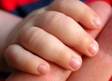 De vingers van de baby Stock Fotografie