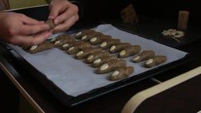 De vingers van de koekjesheks stock footage
