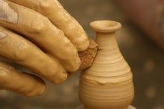 De vingers van de pottenbakker royalty-vrije stock foto