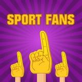 De vingers van het de ventilatorsschuim van de kleurensport Royalty-vrije Stock Foto's