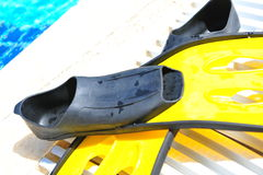 De vinnen van de scuba-uitrusting Stock Foto