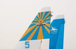 De vinnen van de staart van straal su-27 Royalty-vrije Stock Foto