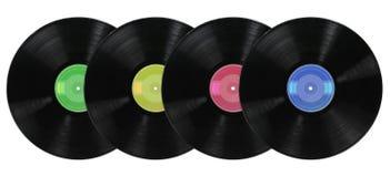 De vinyl Albums van het Verslag Royalty-vrije Stock Foto