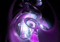 De violette ruimtedroom Stock Afbeelding