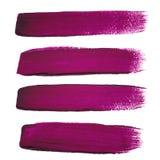 De violette slagen van de inktborstel Royalty-vrije Stock Foto's