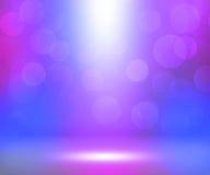 De violette Zachte Zaal van Schijnwerpers Royalty-vrije Stock Foto
