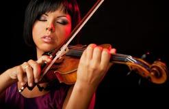 De violist van de vrouw Stock Fotografie