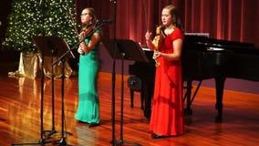 De Vioolmuziek van de Kerstmisgeest stock footage