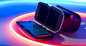 De virtuele 3d glazen van de Werkelijkheidshoofdtelefoon Royalty-vrije Stock Fotografie