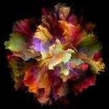 De virtuele Explosie van de Kleurenplons vector illustratie