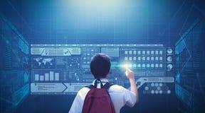 De virtuele Technologie van het het Schermhologram Stock Afbeelding