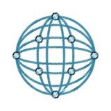 de virtuele tekening van het werkelijkheids sferische panorama Stock Foto