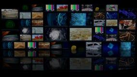 De virtuele TV-studio wordt ontworpen om als virtuele achtergrond in een groene het scherm of chroma zeer belangrijke videoproduc stock footage