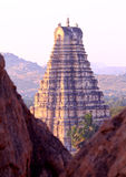 De Virupaksha tempel, Hampi royalty-vrije stock afbeeldingen