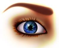 De visie in de wereld. royalty-vrije illustratie