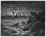 De visie van Daniel van de vier dieren vector illustratie