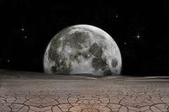 De visie van de maan vector illustratie