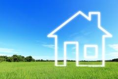 De visie van de nieuw huisverbeelding Stock Afbeeldingen