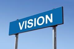 De visie voorziet van wegwijzers Stock Foto