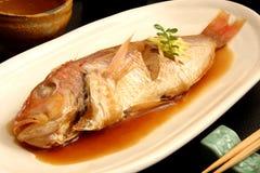 De vissen kookten en kruidden, NIMONO Royalty-vrije Stock Afbeelding
