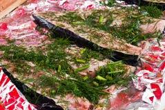 De vissen van Barbecuing Royalty-vrije Stock Foto