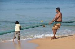 De vissen van de vader en van de zoon Stock Fotografie