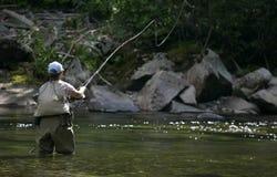 De Vissen van de vlieg die in Montana worden gegoten Royalty-vrije Stock Foto