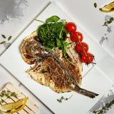 De Vissen van grilldorado Stock Fotografie