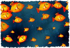 De vissen van Grunge Royalty-vrije Stock Foto's