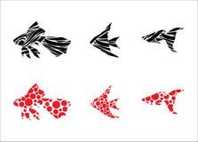 De vissen van het aquarium Vector Illustratie