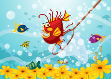 De vissen van het monster in water Stock Fotografie