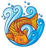De vissen van Koi Royalty-vrije Stock Foto