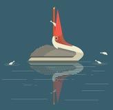 De vissen van pelikaanvangsten Royalty-vrije Stock Afbeelding
