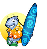 De Vissen van Surfer Stock Afbeelding
