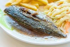 De vissenlapje vlees van Saba Stock Foto