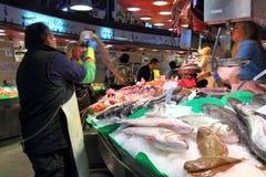 De vissenmarkt van Barcelona Stock Foto