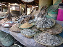 De vissenmarkt van Madagascar Stock Foto's