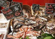 De vissenmarkt van Parijs Royalty-vrije Stock Fotografie