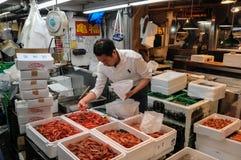 De Vissenmarkt van Tokyo Royalty-vrije Stock Afbeeldingen