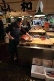 De vissenmarkt van Tsukiji Royalty-vrije Stock Afbeeldingen