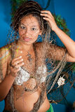De vissenmeisje van de dierenriem Royalty-vrije Stock Foto's