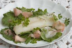 De vissenplaat van de kabeljauw Stock Afbeelding