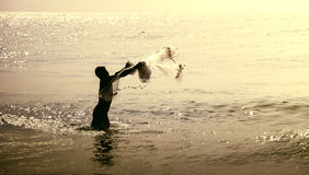 De visser Stock Foto