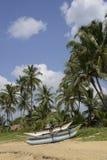 De Visser Boats van Srilankan onder blauwe hemel Royalty-vrije Stock Afbeeldingen