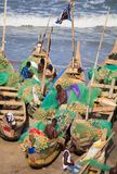 De visser in Kaap kostte strand, Ghana Royalty-vrije Stock Fotografie