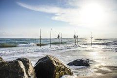 De visser van de Gallestelt Stock Afbeeldingen