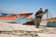 De visser van Gaza Stock Afbeelding
