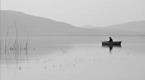 De visserij van de boot stock afbeelding