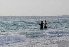 De visserij van de branding Royalty-vrije Stock Foto